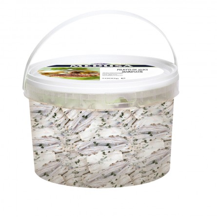 0102KN - Filetti di alici marinate al naturale 3000gr